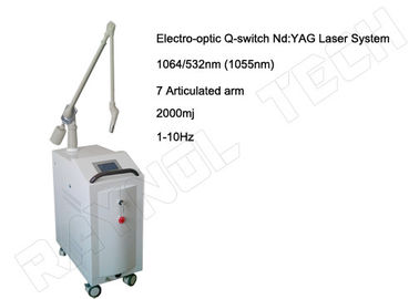 China YAG Laser Tattoo Removal / Birthmark / Speckle Removal Multifunction Beauty Machine factory
